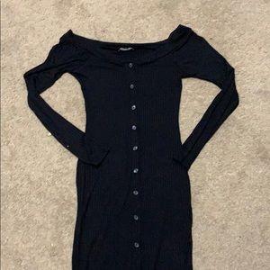 Fashion Nova Midi Long sleeve button down dress